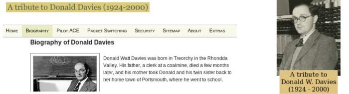 A tribute to Donald W. Davies