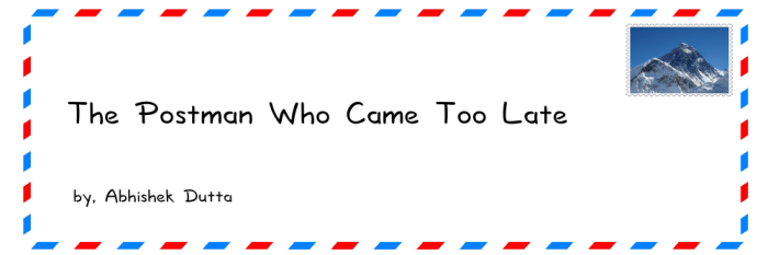"Teaser for story ""The Postman Who Came Too Late"""
